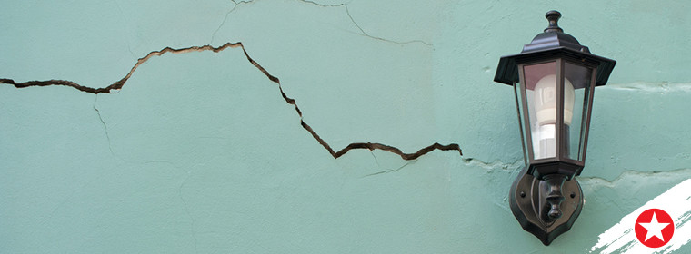 how to paint a cracked or damaged wall