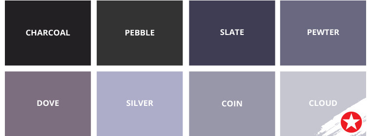 Our favourite shades of grey - Star Paint