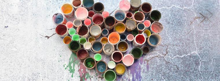 Reuse paint tins